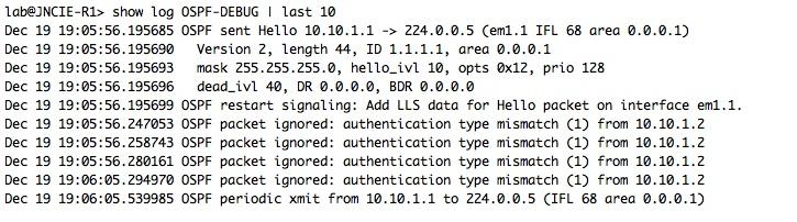 OSPF-DEBUG-AUTH-MISMATCH